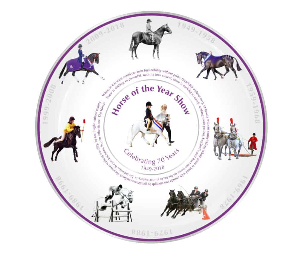 HOYS 70th Anniversary Plate